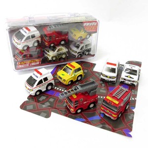 Bag Emergency Vehicle Set Fire Truck Patrol Car