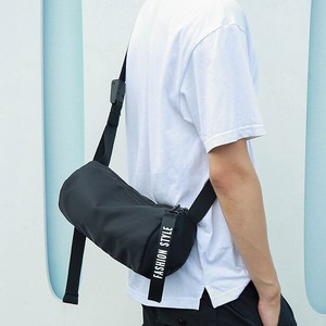 Shoulder Bag Men's Diagonally Messenger Bag Boston Drum Bag Smallish Going To School Black