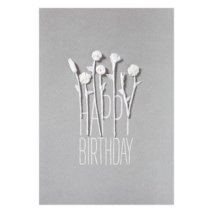 White blossom card HBD