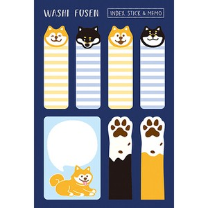 Japanese Paper Husen Sticky Note Shiba Dog Index Memo Pad Husen Japan