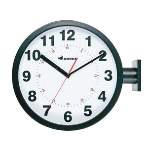 [DULTON] Double Face Wall Clock Black