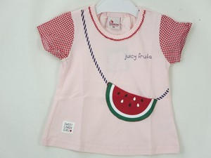 Watermelon Pocket Gingham Check T-shirt
