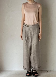 Linen Dobby Over Tuck wide pants
