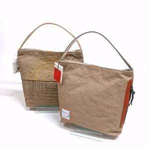 Canvas Handbag Cow Leather