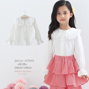 Cotton Lace Blouse Children's Clothing Girl
