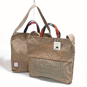 Canvas 2Way Tote Cow Leather