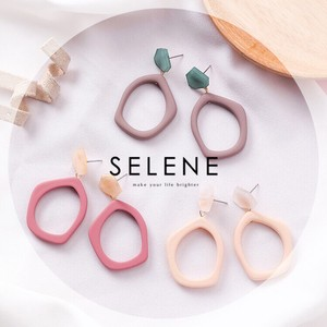 3 Colors Pastel Color Pierced Earring