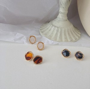 3 Colors Petit Marble Pierced Earring