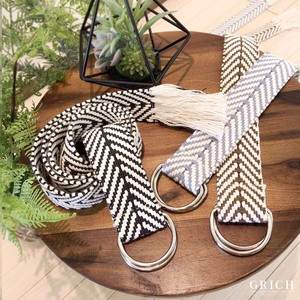S/S Belt Fancy Goods Accessory Fringe Ethnic Belt Jacquard Tribal