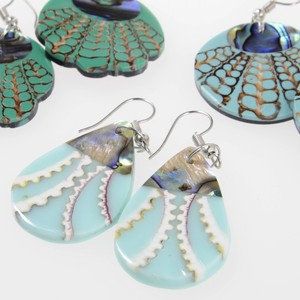 Shell Pierced Earring 3 Types Blue Dream