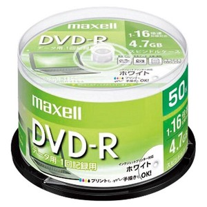 マクセル PC DATA用 DVD-R DR47PWE.50SP