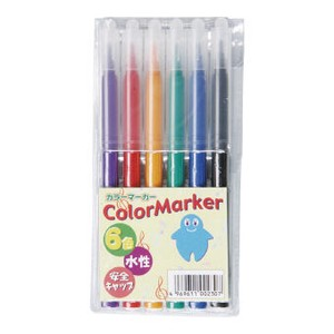 velty Felt-tip pen 6 color set