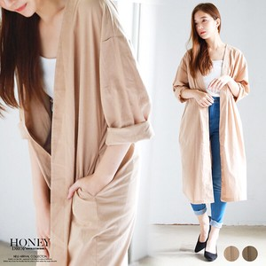 S/S Non-colored Long Cardigan