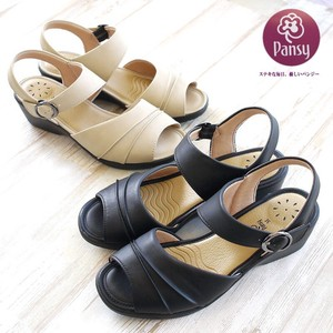 Sandal Ladies Pansy Flat Beige Strap Office