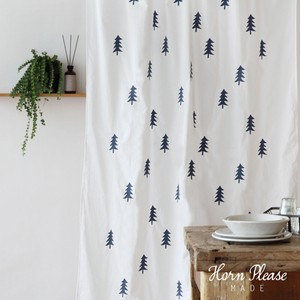 Curtain Fur Tree Embroidery
