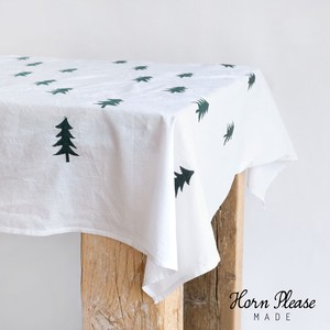 Tablecloth Fur Tree Embroidery