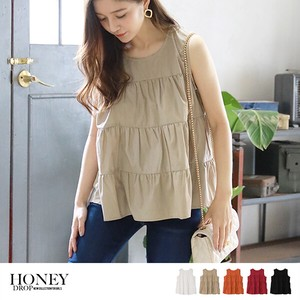 S/S Sleeveless Blouse Top