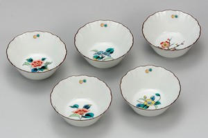 KUTANI Ware 3.5 Mini Dish Flower