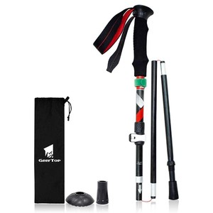 Folded Trekking Pole Light-Weight Aluminium Three Steps Expansion Storage Bag