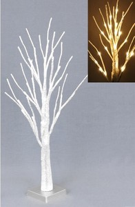 Attached Silver Branch Light Tree Stand