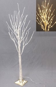 Attached Gold Branch Light Tree Stand