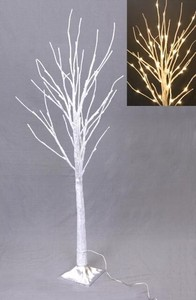 LED Light Attached Silver Branch Light Tree Stand