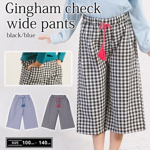 S/S Gingham Check wide pants