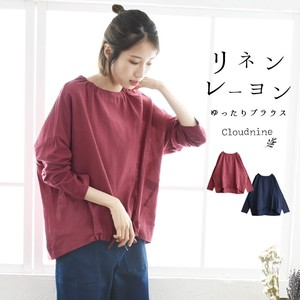 Pullover Ladies Blouse Long Sleeve Tunic Material Switching Drop Shoulder