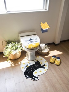 Toilet Series Yellow cat Cat Bathroom Furnishing Toilet Mat