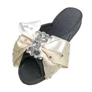 GRAN DECO Bijou Ribbon Room Sandal Heel Ladies Sandal