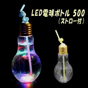 Straw LED Light Bulb Bottle