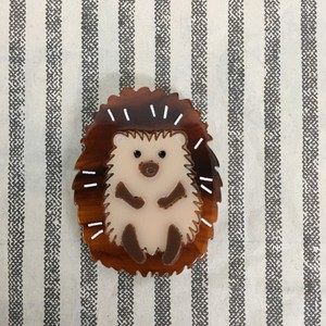 Retro Front Hedgehog Brooch
