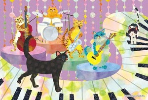 Postcard cat Band