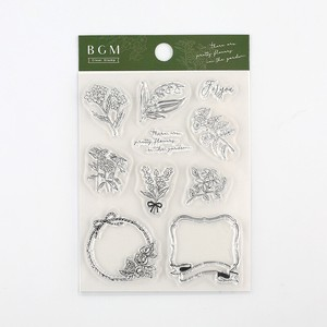 BGN Clear Stamp Vintage Flower Stamp