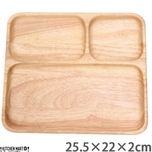 Divided Plate Wooden Kids Kids Plates & Utensil Partition Plate Wood