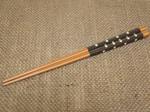 Lacquerware Wooden Dot Chopstick Brown Chopstick Wash In The Dishwasher Wrapping