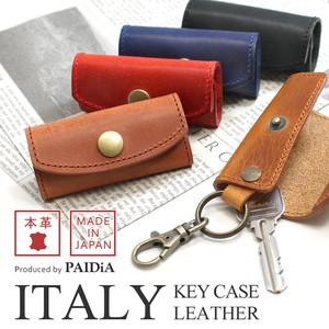 Italy Leather Compact Key Case Genuine Leather Men's