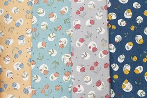 Fabric 4 Colors Floral Pattern