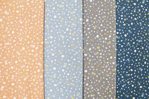 Fabric 4 Colors Butterfly Star