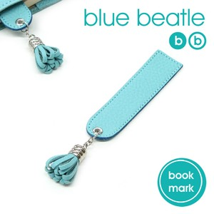 Leather blue Bookmark