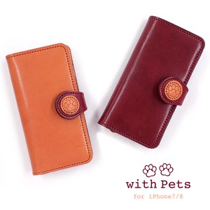 Oil Leather Notebook Type Cover iPhone SE type