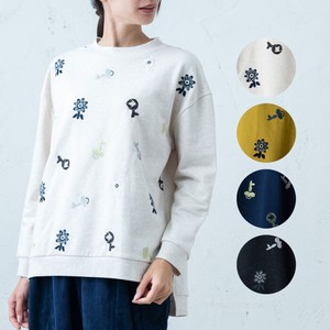 A/W Flower Embroidery Wide Pullover