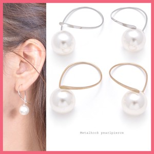Metal Hook Pierced Earring Pearl Catch