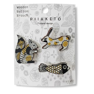 [2019NewItem] Wooden pin Brooch 3 Pcs Set Scandinavia