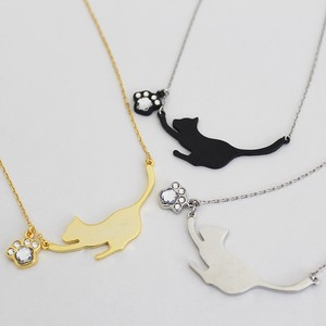Silhouette cat Necklace