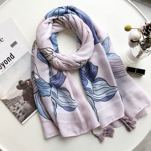 Large Format Stole Scarf Tassel Attached Flower