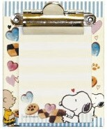 Snoopy Memo Pad Attached Binder Sweets