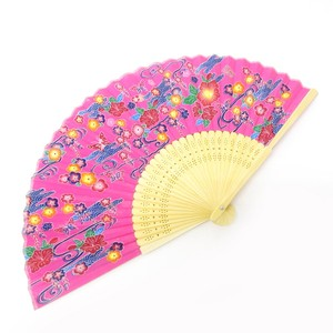 Silk Folding Fan Okinawa Pink