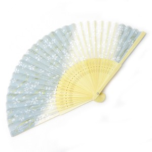Silk Folding Fan Sakura Blue
