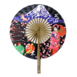 Round shape Folding Fan Mt. Fuji Apprentice Geisha